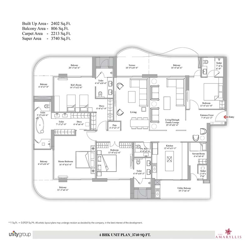 Floor Plan 4BHK